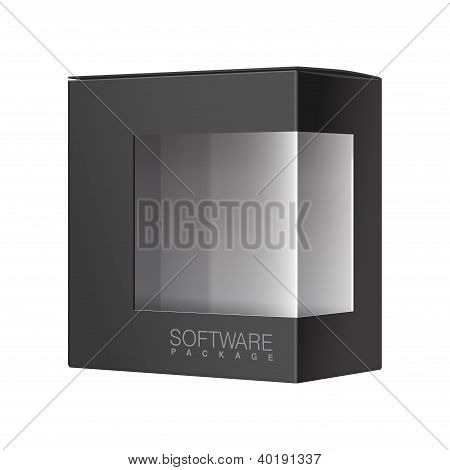 Package Box with a transparent plastic window