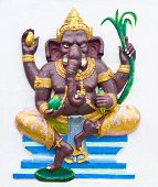 foto of ganapati  - Hindu ganesha God Named Maha Ganapati at temple in thailand - JPG