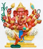 image of ganapati  - Hindu ganesha God Named Maha Ganapati at temple in thailand - JPG