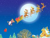 picture of santa sleigh  - High resolution image  - JPG