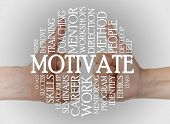 pic of mentoring  - Motivate cloud concept with a motivate background - JPG