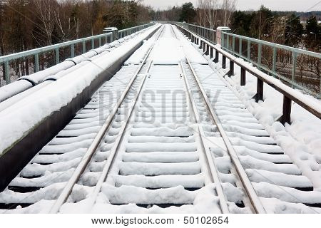 The Railroad Under Snow