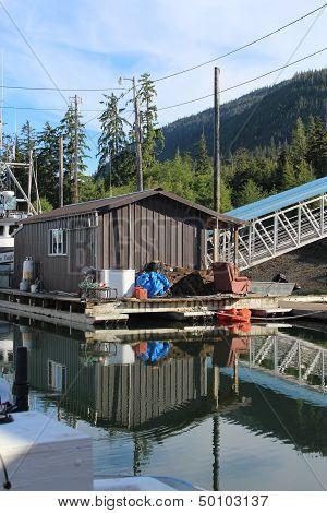 Float House in Alaska Harbor