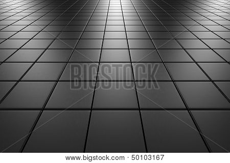 Steel Tiles Flooring Perspective View