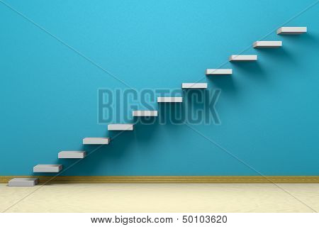 Empty Room With Ascending Stairs