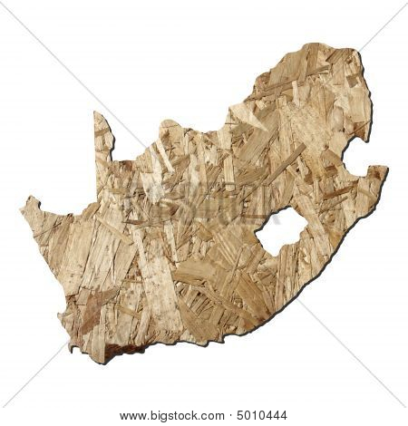South Africa Chipboard Map