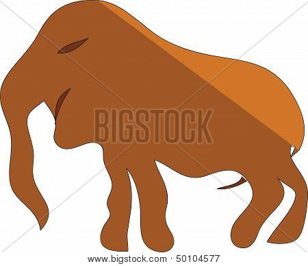 mammoth, drawing, ancient,