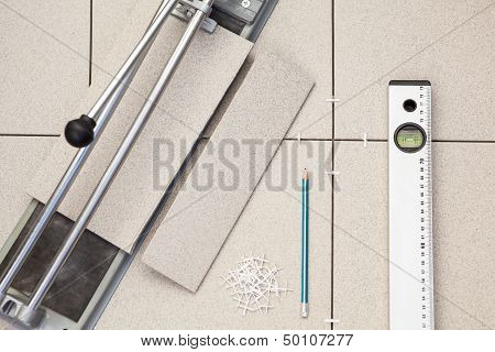 Instruments And Materials For Tile Laying