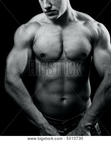 Big Muscular Sexy Man With Powerful Body