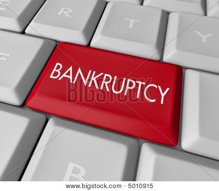 Llave de computadora de bancarrota
