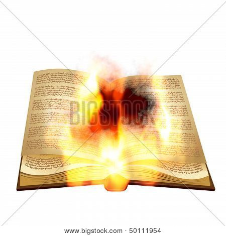 Old Book Burning