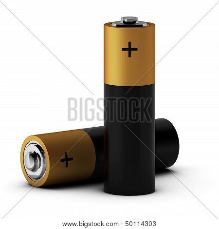 3D Render Of Batteries