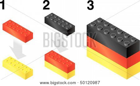 Building blocks making German flag