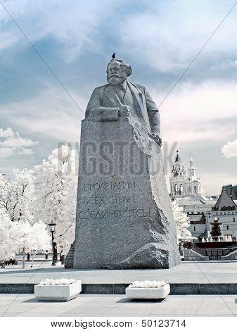 Karl Marx. Infrared Photo