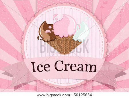 Ice Cream vintage style