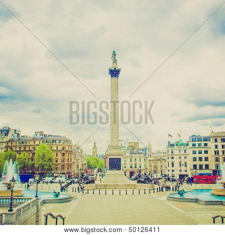 Vintage Look Trafalgar Square, London
