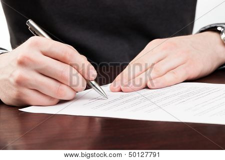 Business Men Signing Contract.