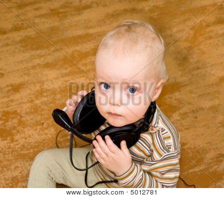 Boy In Old Ear-phones