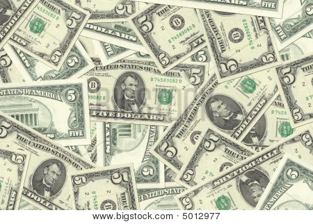 5 Dollar Notes Texture