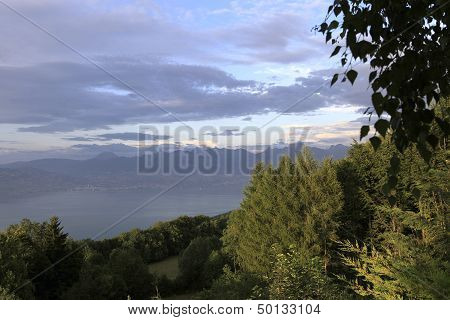 the Leman lake, near Evian, France