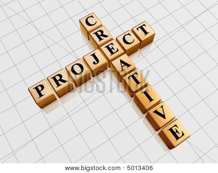Golden Creative Project Like Crossword