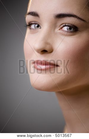 Woman Face Closeup