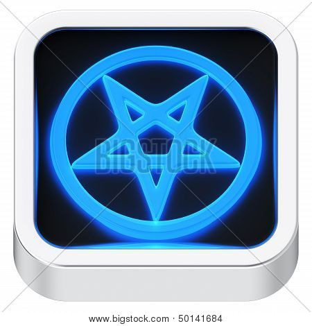 Pentagram Luminous Icon