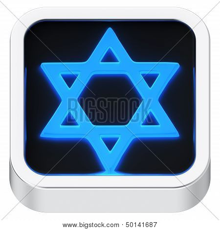 Star of David Luminous Icon