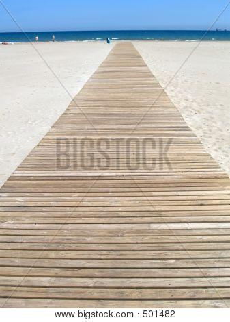 Footbridge At The Beach