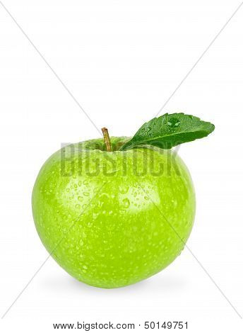 Granny Smith Apple Isolated On A White Background With Clipping Path