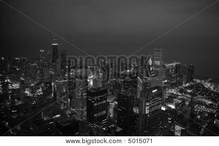 Chicago Night B&w