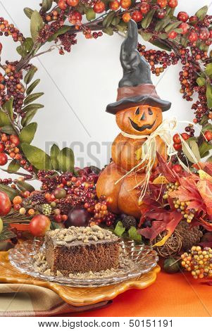 Autumn Chocolate Crumb Cake