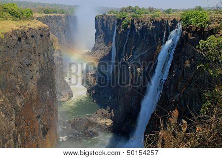 Rainbow at Victoria Falls, Africa