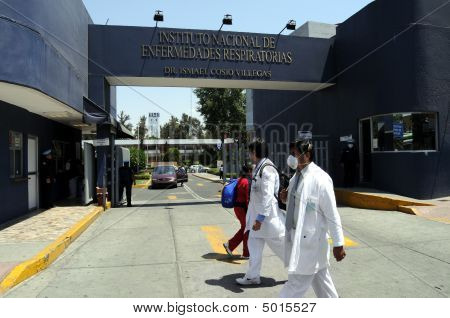 Hospital Entrance In Mexico City