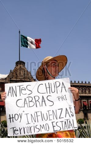 Protest Against Mexican President
