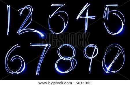 Neon Number Set