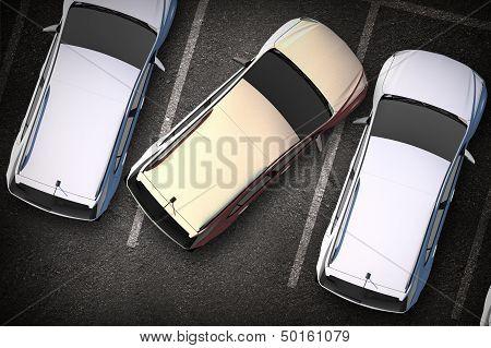 Bad Driver On Parking