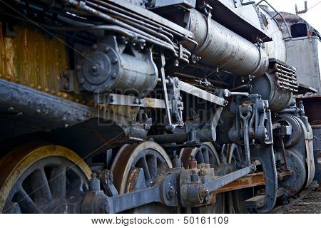 Ruined Steam Locomotive