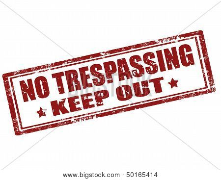 No Trespassing-stamp