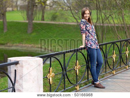 Portrait Of A Beautiful Full-length Girl