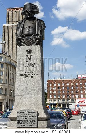 Statue To Napoleon Bonaparte In Warsaw