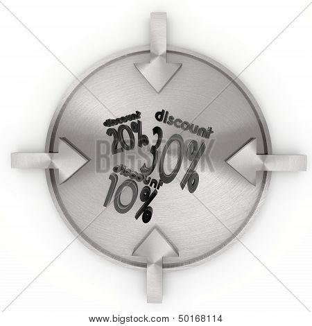 Illustration Of A 10 Discount Symbol On Metallic Label
