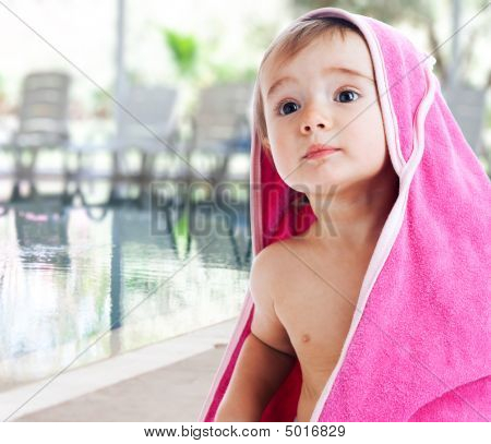Baby Covered With Towel