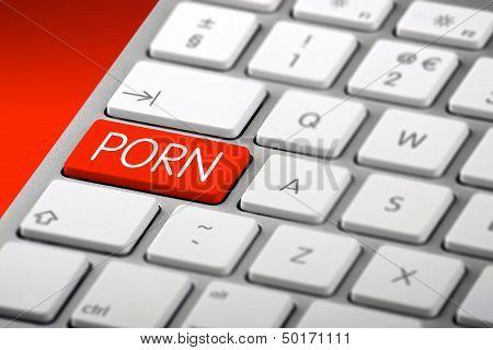 A Keyboard With A Porn Key