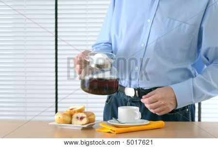 Man Making Tea
