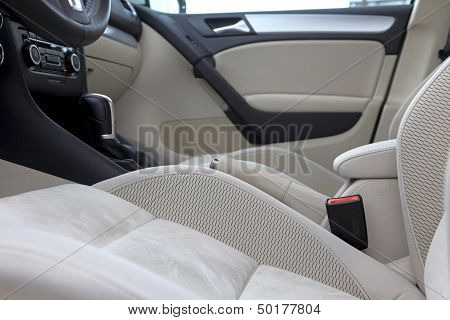Inside Of Luxury Car