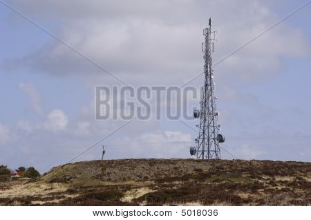 Comms Tower On Mountain