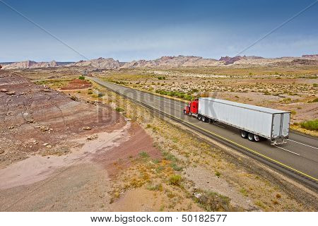 Truck On The Utah Highway