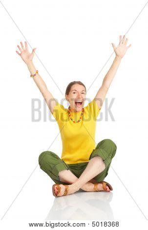 Happy Funny Woman