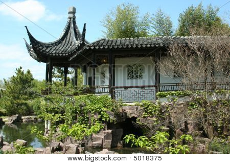 Balcony At Chinese Scholar's Garden